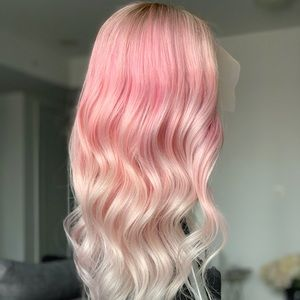 Other - Pink ombré human hair wig